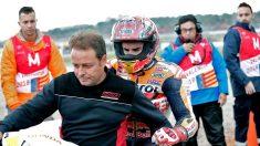 """Motos GP : Márquez explica que ha notado """"algo raro en el hombro"""""""