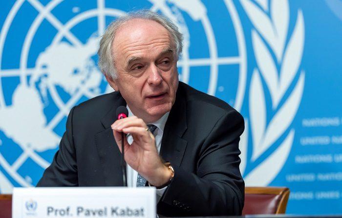 El director del departamento de investigación de la Organización Meteorológica Mundial (OMM), Pavel Kabat, presenta el informe de la organización sobre los gases de efecto invernadero en la sede de las Naciones Unidas en Ginebra (Suiza) hoy, 22 de noviembre de 2018. EFE