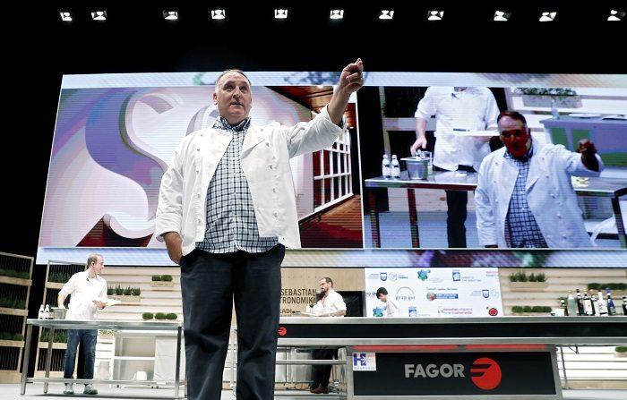 José Andrés ofrece comida de Acción de Gracias a víctimas de incendio en EE.UU. En la imagen, el cocinero español José Andrés. EFE/Archivo