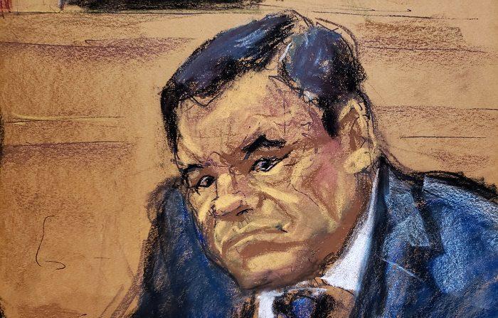 """El mexicano Joaquín """"el Chapo"""" Guzmán afronta las acusaciones por narcotráfico, que le cuestan cadena perpetua  del tribunal de Nueva York. EFE/Jane Rosenberg"""