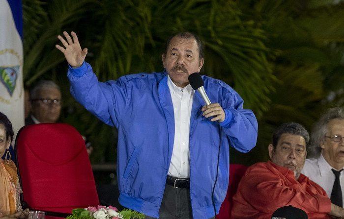 El líder nicaragüense, Daniel Ortega. EFE/Jorge Torres.