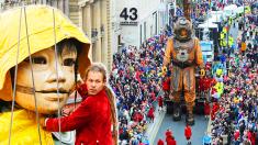 Titiriteros deslumbran con sus marionetas gigantes que cuentan historias por las calles del mundo