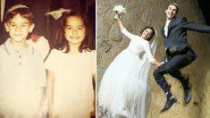 Se conocieron en pañales pero nunca imaginaron que 20 después serían una hermosa familia de tres
