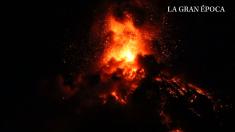 Volcán de Fuego rugió por 30 horas: excepcionales imágenes de la quinta erupción del año