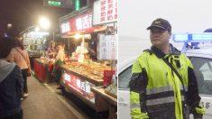 Un policía taiwanés multa a una anciana por operar un puesto ilegal pero luego le da su propio dinero