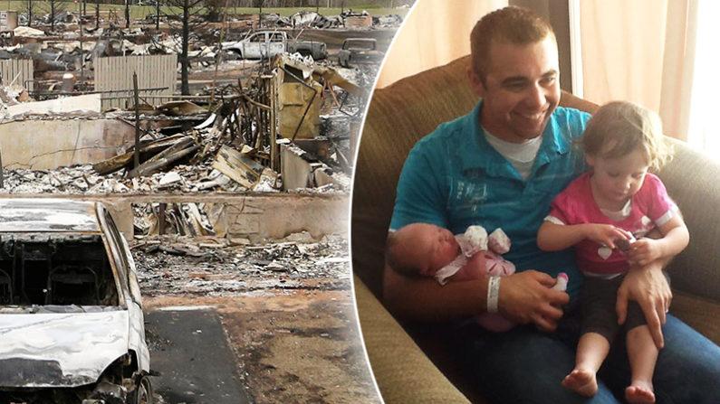 Papá que pierde todo en un incendio comparte conmovedor mensaje sobre el valor de la familia
