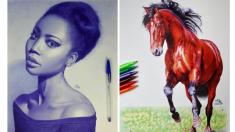 No podrás creer con qué pinta sus obras este artista ¡es increíble tanta perfección!