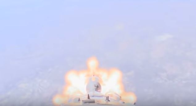 Cámara a bordo del Soyuz grabó el momento del accidente en que escaparon los astronautas