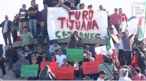 """""""No a la invasión"""": se incrementan las protestas en Tijuana contra la caravana de migrantes"""