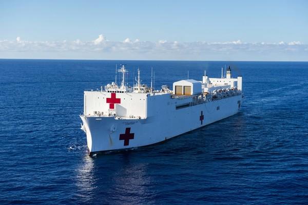 El buque hospital USNS Comfort. (Scott Bigley/Comunicación de la Marina de EE.UU.)