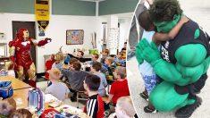 Este policía se viste de superhéroe y recorre Estados Unidos para llevar alegría a niños enfermos