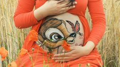 Estas mamás celebran su embarazo con adorables obras de arte en sus lindas y pronunciadas barrigas