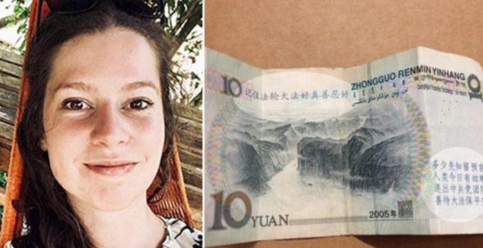 Esta periodista recibe un misterios billete de 10 yuanes que ningún chino se atreve a tocar