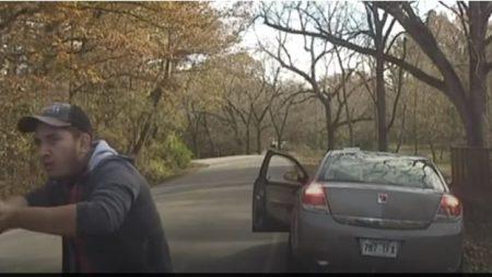 Capturan vídeo de presunto inmigrante ilegal disparando decenas de veces a un policía