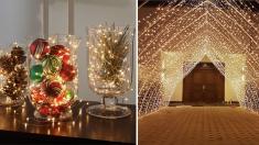 Coloca luces de fantasía en tu hogar y dale un toque mágico a esta Navidad y a todo el año