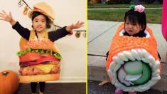 Los disfraces de estos niños llevan la gastronomía al siguiente nivel. ¡Son tan lindos y deliciosos!