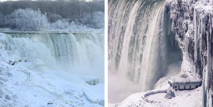 Las cataratas del Niágara en invierno parecen salidas de un cuento ¡solo falta Elsa de Frozen!