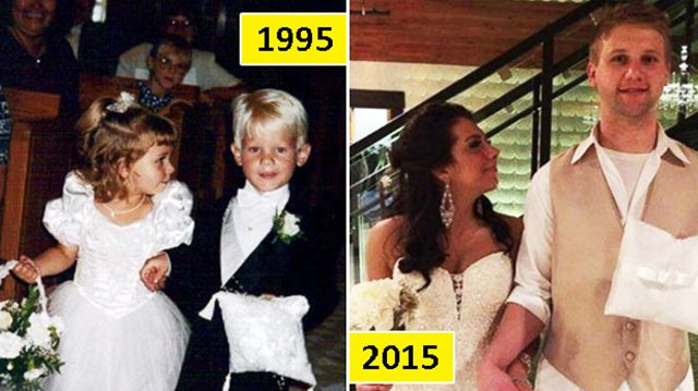 Llevaron los anillos y las flores en una boda, 20 años después caminan de nuevo juntos al altar