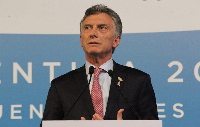 Argentina traspasó hoy la presidencia anual del G20 a Japón, en el marco de la cumbre de jefes de Estado y de Gobierno del grupo celebrada en Buenos Aires.. EFE/ Aitor Pereira