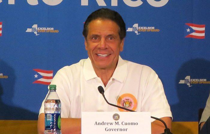 """El gobernador de Nueva York, Andrew Cuomo, anunció hoy que ese estado de EE.UU. está """"en camino"""" de acabar con la epidemia de VIH a finales de 2020 y ha propuesto una nueva regulación para extender el acceso a tratamientos para personas sin seguro médico. EFE/Jorge Muñiz"""