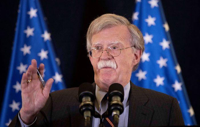 El asesor de Seguridad Nacional de la Casa Blanca, John Bolton. EFE/ Abir Sultan **POOL**