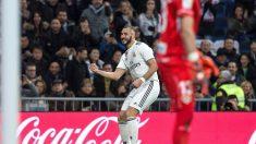 1-0. Benzema alivia a un Real Madrid sin confianza