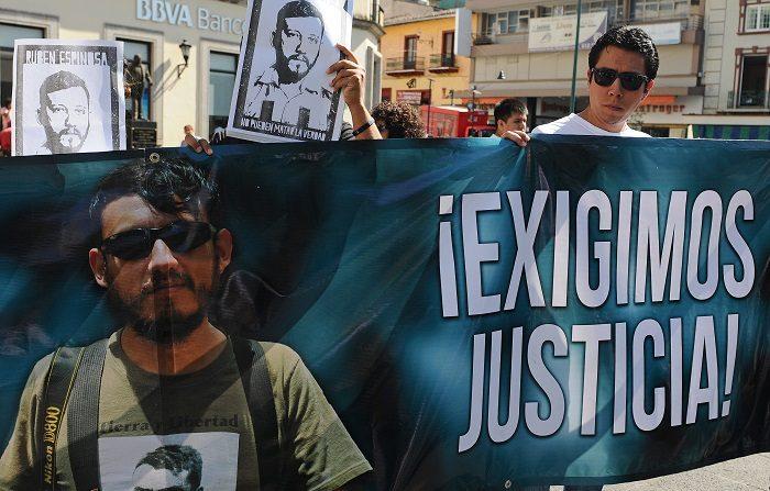 Un total de 113 trabajadores de medios de comunicación fueron asesinados en 2018, un 14 por ciento más que en el año anterior, según la lista anual de la ONG Campaña Emblema de Prensa (PEC), donde México y Afganistán figuran como los países más peligrosos para informar. EFE/Luis Ayala