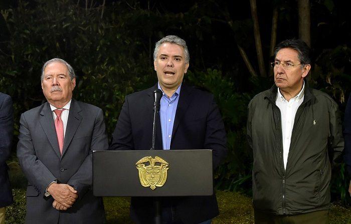 Iván Duque. (EFE/ Cesar Carrión)