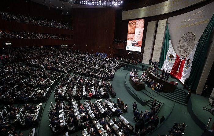 Vista general de una sesión conjunta del Congreso mexicano, en Ciudad de México (México). EFE/José Méndez