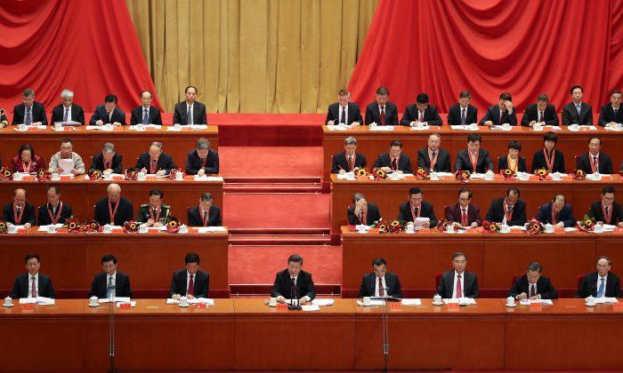 El mandatario chino Xi Jinping da un discurso por el aniversario Nro. 40 de la Reforma y Apertura en el Gran Salón del Pueblo en Beijing, 18 de diciembre de 2018. (Andrea Verdelli/Getty Images)
