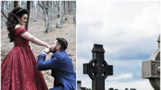 Un novio vuela 4000 km para visitar la tumba del difunto padre de su novia y poder pedirle su mano