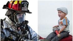 """Adorable niño con cáncer conoce a sus héroes favoritos """"los bomberos"""", antes de irse de este mundo"""