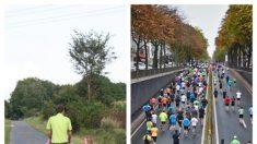 Padre e hijo discapacitado disfrutan correr carreras juntos, su fuerte vinculo inspira a otros