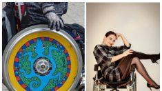 Su elegante silla de ruedas inspira esperanza a todos con sus creativos diseños a la moda