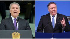 Pompeo y Duque se reunirán en Colombia para tratar sobre todo la crisis de Venezuela