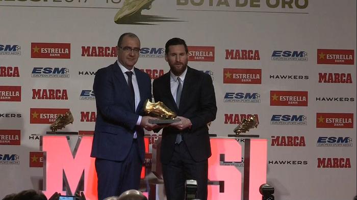"""Imagen extraída del video  de Messi: """"Estoy en el mejor equipo del mundo y eso hace que todo sea más fácil"""" de EFE"""