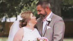 Una mujer con cáncer aprovecha cada momento de su vida y se casa con el hombre que más ama
