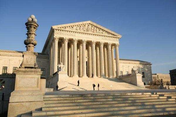 La Corte Suprema de los Estados Unidos en Washington, el 10 de diciembre de 2018. (Samira Bouaou/La Gran Época)