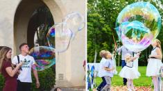 ¡Qué lindas las épocas de burbujas de jabón! ¿Te gustaría volver a hacerlas?
