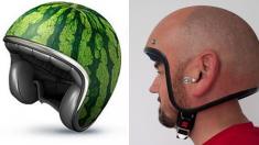 Estos motociclistas llevan los cascos al siguiente nivel. ¿Te atreves a usarlos?