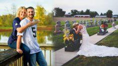 Su prometido muere trágicamente y la novia igual asiste a la