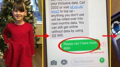 Niña envía un mensaje pidiendo datos a la compañía de teléfono y la genial respuesta se vuelve viral