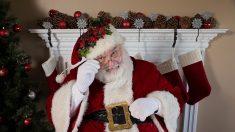 Una emotiva escena entre Santa Claus y un veterano de la II Guerra Mundial tocó miles de corazones