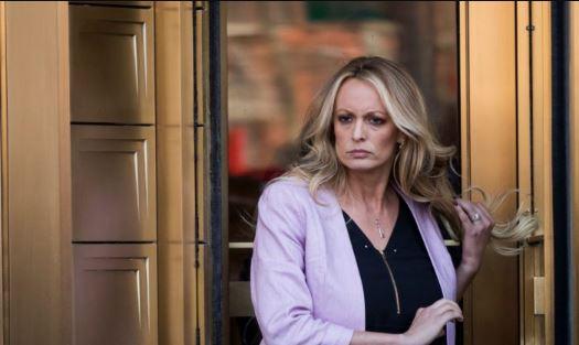 La actriz de cine pornográfico Stormy Daniels en la ciudad de Nueva York el 16 de abril de 2018. (Drew Angerer/Getty Images)