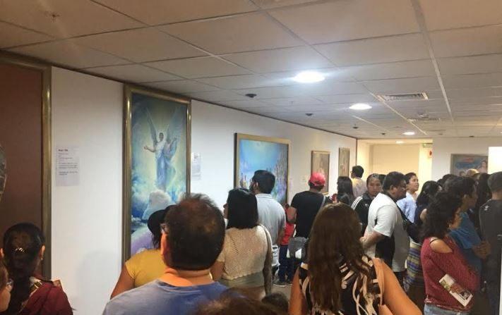 Exhibición de Arte de Verdad Benevolencia Tolerancia en la Sala Paracas del Ministerio de Cultura de Perú en Lima, en enero de 2019. (Asociación de Falun Dafa de Perú)