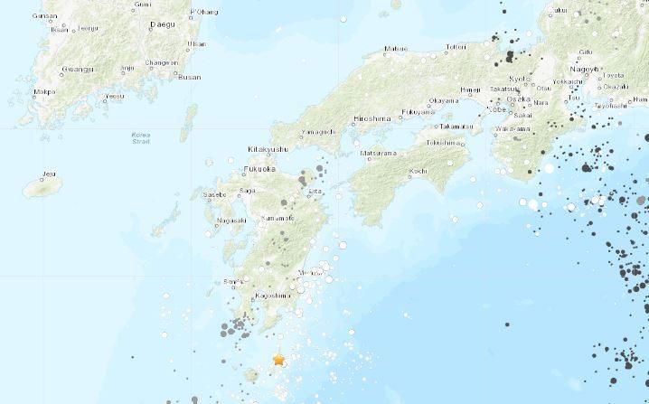 Terremoto en japón el 8 de enero de 2019. (USGS)
