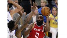 Harden acaba el año con marcas y en plan MVP; Warriors como campeones
