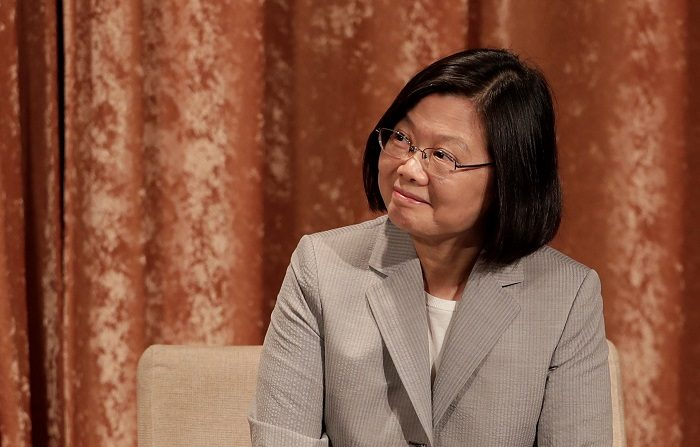 La presidenta taiwanesa, Tsai Ing-wen, hizo hoy un llamamiento a la comunidad internacional para que apoye a Taiwán y su democracia ante la creciente presión de China sobre la isla. EFE/RITCHIE B. TONGO