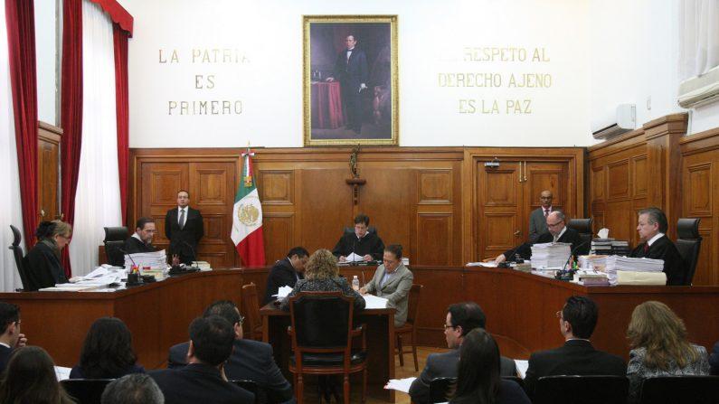 Vista general de la sala de la Suprema Corte de Justicia de la Nación. EFE/Archivo