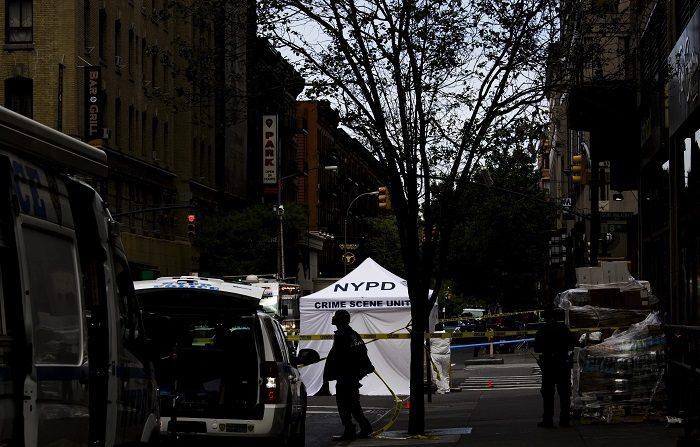 Ancianos mueren en incendio en Manhattan. EFE/Justin Lane